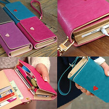 Card Wallet Purse Case Cover For Samsung Galaxy S2 S3 Iphone 4S Free Shipping