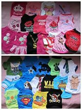 15 BOY+16 GIRL /LOT Small clothing Dog Clothes T Shirt Vest Type XS S M L
