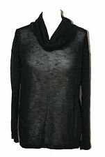 LADIES BHS COWL NECK WOMANS WINTER ROLL NECK BLACK GLITTER JUMPER SIZE: 12 - 20