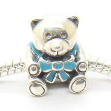 Christmas Holiday Gifts It's A Boy Blue Enamel Teddy Bear Sterling silver Charms
