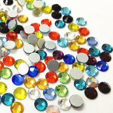 Mixed Color Crystal Flatback Non Hotfix Rhinestones SS6,SS12,SS16,SS20,