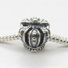 Pertty Sterling Silver Royal Crown Charm Hot Sale European style Bead