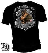 POLICE T SHIRT ELITE BREED SHIRT TO SERVE AND PROTECT K9 DOG BADGE T-SHIRT