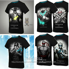League of Legends Zed Thresh Yasuo Men's Short sleeve T-shirt Lee Sin HOT LOL