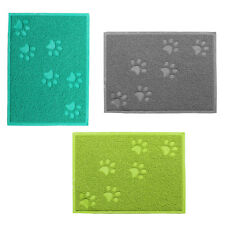 New Pet Dish Food Water Dish Bowl Mat Placemat Embossed PVC Square Shape Style