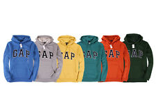 NWT Men's GAP Logo Hoodie Sweatshirt Navy,Gray,Orange,Blue,Green XS,S,M,L,XL