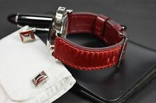 MA WATCH STRAP 24 MM REAL PONY CALF LEATHER F. PANERAI HANDMADE SPAIN PONY I-RED