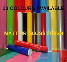 5M x 610MM & 305MM ROLLS, A4 SHT STICKY BACK PLASTIC SIGN VINYL S/ADHESIVE