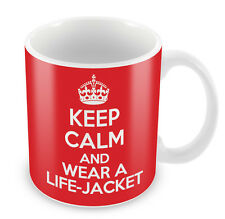 KEEP CALM and Wear a Life jacket - Coffee Cup Gift Idea present xmas swimming