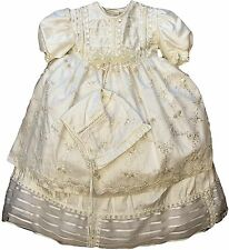 Baby Girl Christening outfit, Spanish Style dress (ropon para niña), Silk Blend