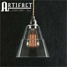 Glass Ceiling Pendant Lamp Vintage Industrial Style Shade Modern Light