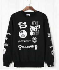 New The west coast Rare Bape joint stussy  MONSTER long Sleeve T-shirt