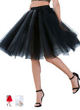 NWT Black Red White Tutu Tulle Petticoat Long High Quality Pleat A Line Skirts
