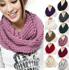 1Pc Knitted Hood Neck Circle Cowl Wool Scarf Shawl Wrap Loop Winter Warmer