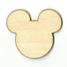 Mickey Mouse Disney  Unfinished Wood Shapes Craft Supply Laser Cut Out DIY DSY90