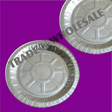 """INDIVIDUAL FOIL PIE PLATES 7¾"""" DISHES, CASES, ROUND, TIN CONTAINER, DISPOSABLE"""