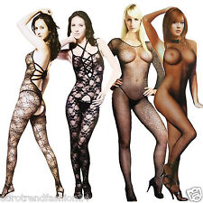 Gogo Overalls Sexy Lingerie Net Body Stocking Negligee Catsuit XS-m 34-38