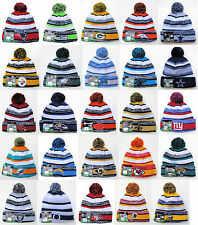 NFL 2014 Sports Knit  Pom Top Cuffed Beanie Winter Cap Hat Authentic New Era