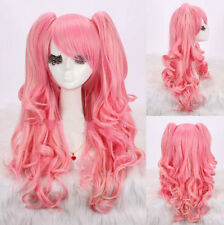 Fashion Curly Lolita Hairstyle Anime Cosplay Party Wigs With 2 Ponytail Wig