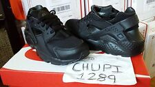 Nike Air Huarache Run Trainer GS Triple Black Anthracite LE Euro Kith Ubiq Fieg
