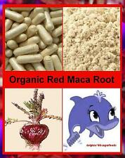 Pure Organic RED Maca Root Capsules - Naturally Helps Menopausal - Hot Flashes.