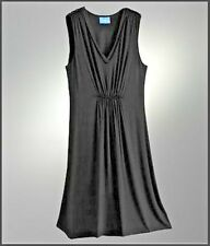 Simply Vera Wang Womens Gathered Dress Sleeveless NWT S XS Black Casual Work