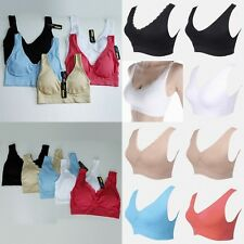 Ladies Sports Bra Fitness Yoga Tank Top Stretch Seamless Strap Spandex Lace Vest