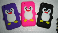 Comate Penguin Silicon / Jelly Back Case Cover for Apple iPhone 3GS 3G