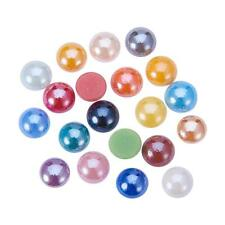 NEW Glass Domed Cabochons Pearlized Pretty Mixed Color Handmade Embellishment