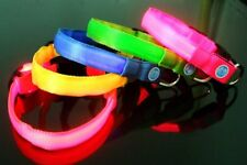 LED collar pets puppies dogs size S M L XL XS double faced belt flashing collar