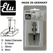ELU HSS STRAIGHT ROUTER BIT CUTTERS - 8MM SHANK - MADE IN GERMANY