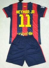new 2014-2015  NO.11 NEYMAR JR BARCELONA home shirt and short 3-14 years