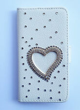 Bling Love Wallet Card Holder PU Leather Flip Case Cover for Lenovo phones