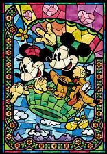 counted cross stitch pattern/kit, disney, mickey mouse, minnie, stained glass