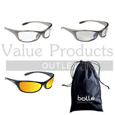 Bolle Spider Safety / Cycling Sports Glasses - FREE Microfibre Storage Bag