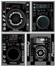 Pioneer CDJ Skin BLACK Protective Decal ALL MODELS 350 800 900 1000 2000 NEXUS