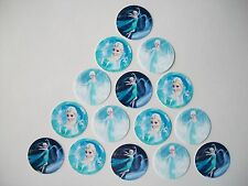 """15 count 1"""" Frozen Elsa Inspired buttons pinbacks flatbacks crafts hairbows"""