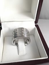 WOMENS BRILLIANT ROUND CUT cz  RING WEDDING BAND white   GOLD 18kt overlaid