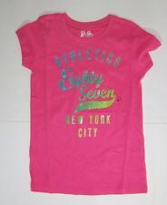 Areopostale PS Kids Girls Glitter Graphic Short Sleeve T Shirts NWT Sz 4  or 6
