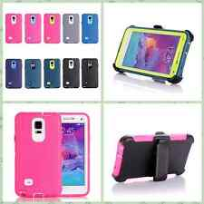 For Samsung Galaxy Note 4 Mobile Phone Mixed Color Protection Shell W/Belt Clip