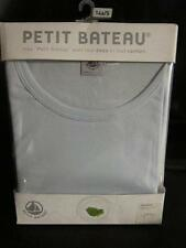 PETIT BATEAU Boys Tee-Shirt 100% Cotton Light Blue Short Sleeve Sz 14A/Sor18A/L