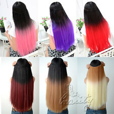 "24"" 6 Colors Available Ombre Style Festival Party Clip In Extensions Hair Piece"