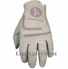 Cabretta Leather Golf Glove 4 LADIES Small Medium Large Pink Blue Black Lilac