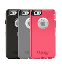 "OTTERBOX DEFENDER AUTHENTIC HARDCOVER DURABLE CASE FOR iPHONE 6 4.7"" BLK/GRY/PNK"