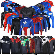 Superhero Marvel Mens T-shirt Jersey Cycling Tops Sweats Hooded Coats Hoodies