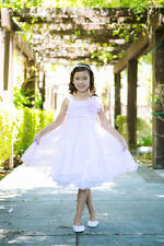 Pretty Polyester Empire Waist Knee Length Double Layered Mesh Flower Girl Dress