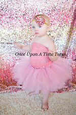 Vintage Mauve Pink Girl Tutu Dress Baby 3 6 9 12 18 3T 4T 5T Halloween Costume