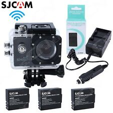 SJ4000 WiFi 12MP HD 1080P Car Cam Sports DV Action Waterproof Camera 2x Battery