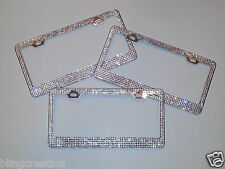Swarovski crystal license plate frame