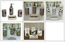 4-Pc Bath Set Safari Cheetah Leopard Zebra Poppy Camouflage Paris